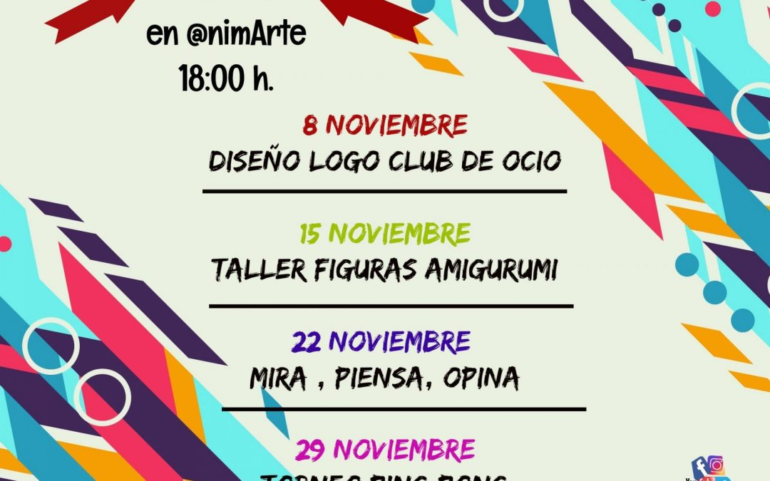 CLUB DE OCIO ANIMARTE NOVIEMBRE